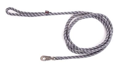 Looplijn longe nylon reflecterend grijs (13 MMX300 CM)