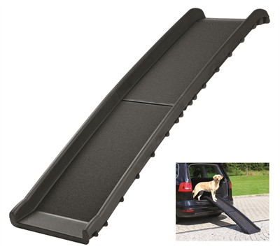 Trixie car ramp loopplank opvouwbaar zwart (156X40CM)