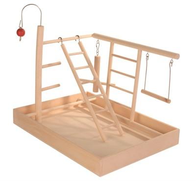 Trixie speelplaats hout voor kanarie en parkiet (35X25X27 CM)