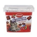 Sanal cat cranberry & chickenbites cup (75 GR)