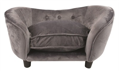 Enchanted hondenmand sofa ultra pluche snuggle donkergrijs
