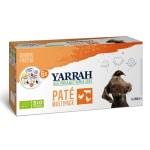 Yarrah organic hond multipack pate kalkoen / kip / rund (6X150 GR)