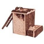 Trixie natural living speel- en graaftoren muis / dwerghamster (20X16X20 CM)