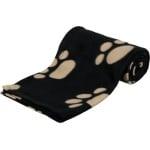 Trixie barney fleece hondendeken zwart/beige (150X100CM)