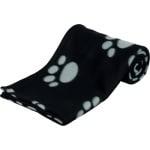 Trixie barney fleece hondendeken zwart/grijs (150X100CM)