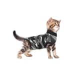 Suitical recovery suit kat zwart camouflage (XS 40-45 CM)