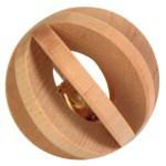 Trixie bal hout met bel (6 CM)