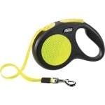 Flexi rollijn neon tape zwart/geel (M 5 MTR)