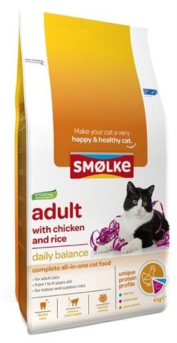 Smolke cat adult kip / rijst (4 KG)