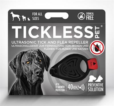 Tickless teek en vlo afweer voor hond en kat zwart