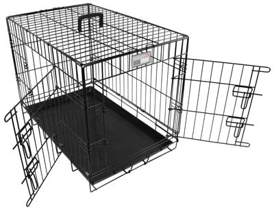 Doginox bench 2-deurs zwart (78X49X56,5 CM)