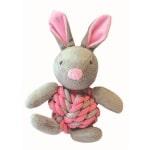 Little rascals knottie bunny touwbal konijn roze (20X15X8 CM)