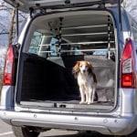 Trixie hondenrek auto zilver / zwart (96-163X75-110 CM)