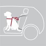 Trixie hondentuig auto dog protect zwart (50-65X2 CM)