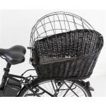 Trixie fietsmand met draadkoepel achterop zwart (35X49X55 CM)