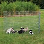 Trixie natura puppyren gegalvaniseerd metaal 8 panelen (DIA 154 CM 61X91 CM)