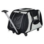 Trixie reismand trolley zwart / lichtgrijs (67X34X43 CM)