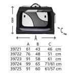 Trixie reismand vario zwart / grijs (76X48X51 CM)