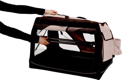 Trixie reismand vario zwart / grijs (99X65X71/61 CM)