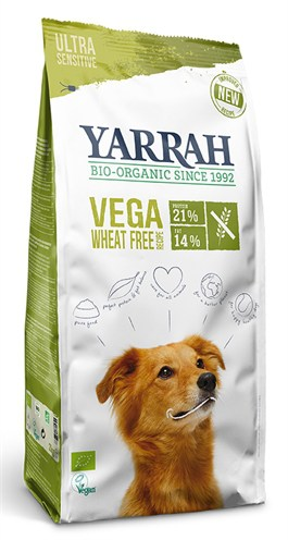 Yarrah dog biologische brokken vega ultra sensitive tarwevrij