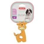 Zolux puppyspeelgoed latex giraffe oranje (7,5X3,5X10 CM)