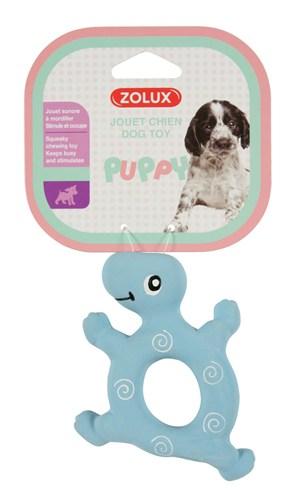 Zolux puppyspeelgoed latex schildpad blauw