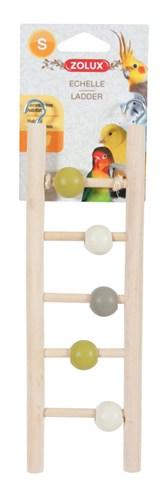 Zolux ladder hout 5 treden met kralen