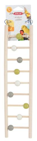 Zolux ladder hout 9 treden met kralen