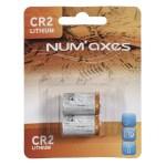 Numaxes lithium batterij cr2 (3V 2 ST)