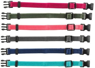 Trixie puppy halsbandset bruin / beige / grijs / roze / blauw / oranje (22-35 CM 6 ST)