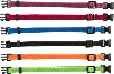 Trixie puppy halsband set rood / groen / geel / paars / blauw / zwart (22-35 CM 6 ST)