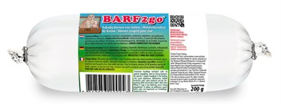 Barfmenu barf2go kat (200 GR)