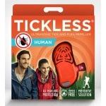 Tickless teek en vlo afweer voor mens fluoriserend oranje