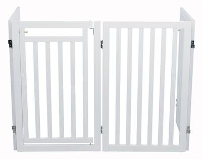 Trixie hondenhek met deur wit (60-160 X 81 CM)