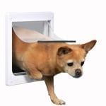 Trixie 2-weg hondenluik wit (XS-S 25 X 29 CM)