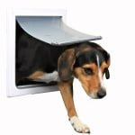 Trixie 2-weg hondenluik wit (S-M 30 X 36 CM)