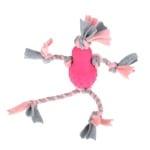 Little rascals flostouw pop met fleece roze (35X10X7 CM)