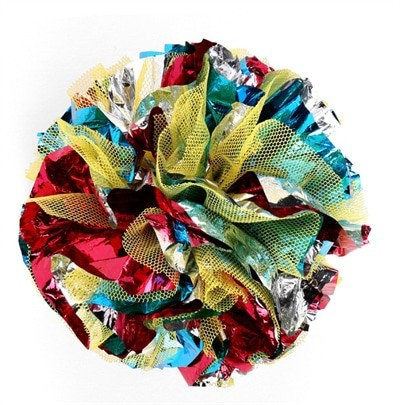 Happy pet cat 'n' caboodle crinkle bal super size (11X11X11 CM)