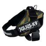 Julius k9 idc harnas / tuig camouflage (MAAT 0/58-76CM)