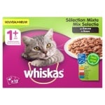 Whiskas multipack pouch adult mix selectie vlees / vis in saus (4X12X100 GR)