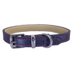 Rosewood halsband hond leer donkerblauw (25-35,5 CM)