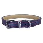 Rosewood halsband hond leer donkerblauw (45,5-56 CM)