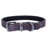 Rosewood halsband hond leer donkergrijs (35,5-45,5 CM)