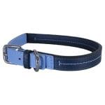 Rosewood halsband hond leer babyblauw / donkerblauw (35,5-45,5 CM)