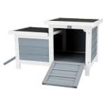 Trixie knaagdierhuis met 2 ingangen grijs / wit (70X45X43 CM)
