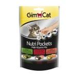 Gimcat nutri pockets malt-vitaminemix kattenkruid / multivitamine (150 GR)