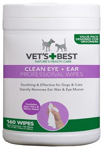 Vets best clean ear / eye wipes hond (160 ST)