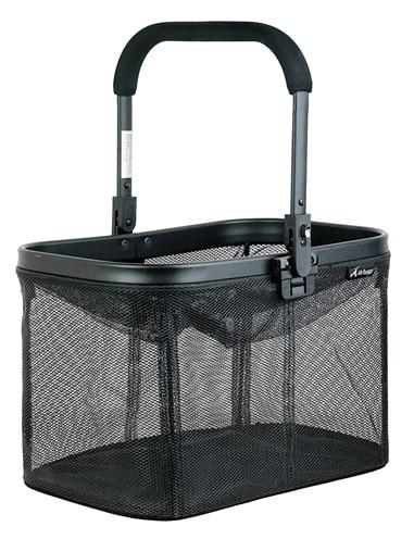 Airbuggy multi basket hondenbuggy mesh zwart (48X30X30 CM)