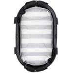 Airbuggy mat voor dome2 sm streep grijs / wit (48X28 CM)