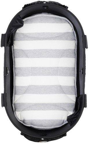 Airbuggy mat voor dome2 m streep grijs / wit (65X31 CM)